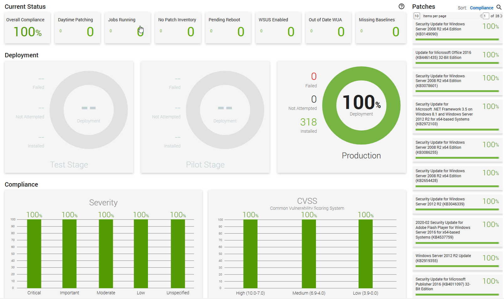 Patch Manager Dashboard
